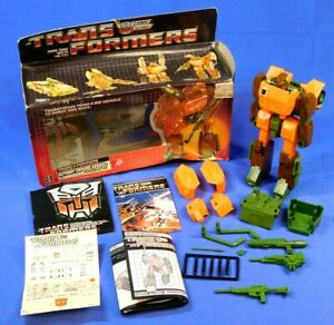 TRANSFORMERS G1 ROADBUSTER 1985 COMPLETE WITH BOX AND UNUSED STICKERS