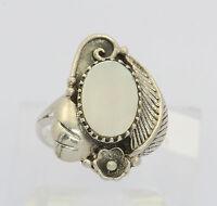♦ Ring in aus 925er Sterlingsilber mit Perlmutt Silberring Perlmuttring Silber ♦