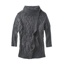 Prana Delaney Duster Cardigan Women's XL Grey Chunky Knit Sweater