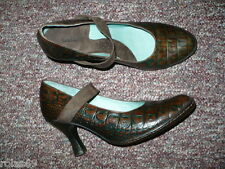 Women's Brown Leather Pumps BØLO by BORN Mary Janes Sz 10 M, Cute Shoes