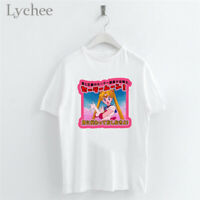 Japanese Sailor Moon Girl Print Women White T-Shirts Casual Short Sleeve Tops