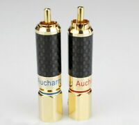 1 Pair Pure copper gold-plated 8.5mm Lotus plug Preamplifier/DAC/Amplifier RCA
