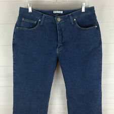 Lee Riders womens size 12 stretch relaxed straight medium wash mid rise jean EUC