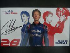 Handsignierte AK Autogrammkarte *BRENDON HARTLEY* TORO ROSSO Racing F1 Team 2018