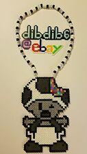 Toad mario kandi perler necklace rave EDC PLUR Nintendo