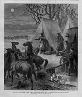 CORRESPONDENTS OF THE ILLUSTRATED LONDON NEWS CAMP ATTACKED BY WOLVES LANTERNS