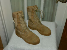 US Military HOT WEATHER COMBAT BOOTS Vibram Soles Desert Tan USA Made sz 5.5 W