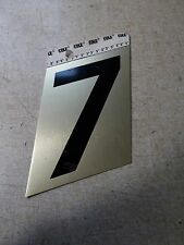 "New Cole 3"" Black and Gold House Number 7 *Free Shipping*"