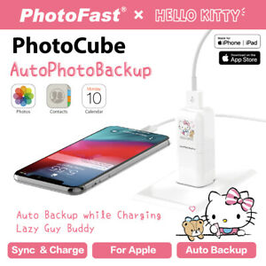 PhotoFast Hello Kitty  PhotoCube iPhone auto Backup Charger micro SD reader