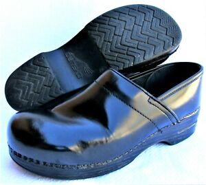 Dansko Womens 11 EU-43 Professional Comfort Clogs Nursing Smooth Leather Black