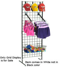Folding Grid Display With Nylon Bag in White Finish 24 W x 20 D x 69 H Inch