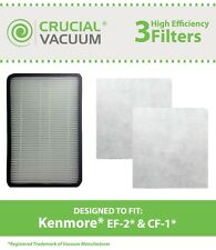 Kenmore EF2 Exhaust Filter & 2 CF1 Filters, Part # 86880 40320 MC-V194H 86883