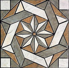 "16 3/8"" Porcelain Tile Medallion - Daltile's Franciscan Slate, floor or wall"