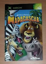 Madagascar Xbox game Replacement manual