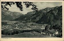 Padinger Alm Bayern s/w AK ~1920/30 Totale Blick auf Bad Reichenhall ungelaufen