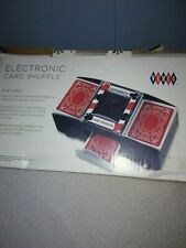 Wemco Electronic Card Shuffler included 2 Decks Of Cards Nib