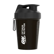 Black Optimum Nutrition SmartShake Lite Small Protein Shaker Bottle 400ml