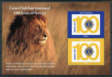 Guyana 2017 MNH Lions Club International 100 Years 2v S/S Wild Animals Stamps