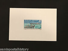 French Colonies Gabon - imperf deluxe stamp sheet - ship