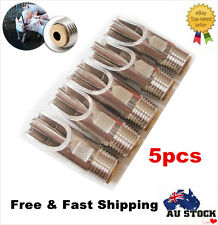 5PCS Stainless Steel Pig Dog Drinking Nipple Valve Drinker Waterer Brass