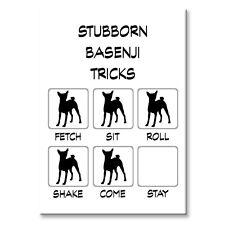 Basenji Stubborn Tricks Fridge Magnet Steel Case Funny