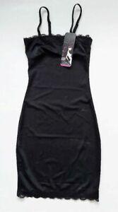 BB SHAPE Slip w/Lace Detail & Removable Strap Lingerie Black Size M Youth $54