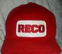 VTG RECO Patch  Trucker Hat Cap Snapback Corduroy Made in USA A4
