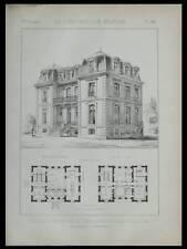 CHATILLON SUR SEINE, CAISSE D'EPARGNE - 1886 - 2 PLANCHES ARCHITECTURE - MONNIOT