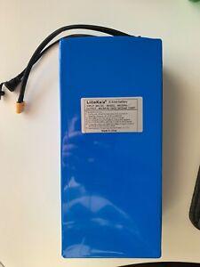 E-Bike Akku 48V 20Ah 960W PVC Blau Fahrradakku Lithium Batterie 20A BMS XT60 Neu