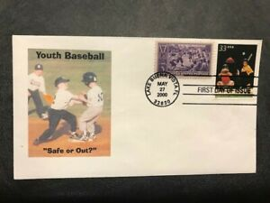#855 #3402 COMBO Baseball Sports FDC 2000 M118 Youth Baseball