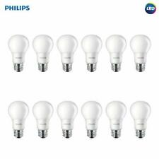 New! 12 Philips 60W Equivalent Soft White A19 LED Light Bulb