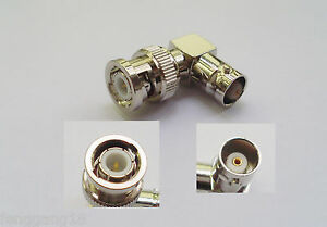 10x BNC Male Plug to BNC Female Jack Right Angle 90 Degree RF Adapter Connector
