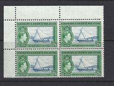 GILBERT & ELLICE 1939 KGVI 2/6 SAILBOAT blk/4 MNH