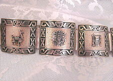 VINTAGE STERLING silver 925 PERU BRACELET Peruvian Jewelry Gift Mother  Birthday
