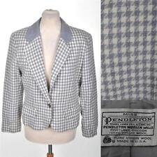 VINTAGE Pendleton Tweed Giacca grigio lana controllato 12 ELEGANTE CHIC CLASSIC