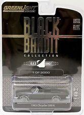 1963 Chrysler 300 K Convertible 1:64 Scale Black Bandit 8 Greenlight 27710