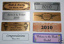 Self Adhesive NAME PLATE nameplate PRINTED 7.6 x 2.5cm trophy photo frame plaque