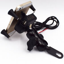New X-Grip Cellphone Mount  Motorcycle Phone Holder With USB Charger Practical