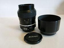 Nikon 105mm f2.5 MF portrait lens + hood