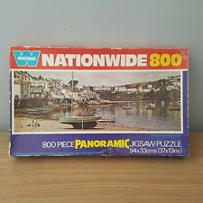 Vintage Nationwide Panoramic 800 Piece Jigsaw Puzzle Polruan Cornwall