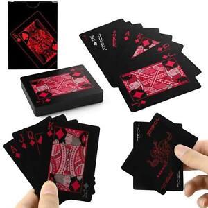 Black / Red Poker Cards - PVC plastic waterproof bend resisant