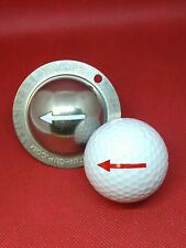 1 only TIN CUP GOLF BALL MARKER - ONE WAY - ARROW & Yours For Life -