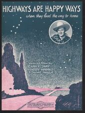 Highways Are Happy Ways 1927 Gene Autry Christmas Sheet Music