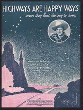Highways Are Happy Ways 1927 Gene Autry Christmas Sheet Music