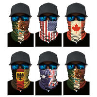 National Flag Neck Gaiter Warmer Face Masks Ski Scarf Bandana Balaclava