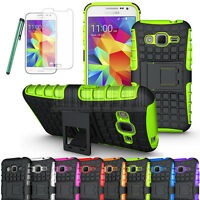 Hybrid Rugged Kickstand Case Cover Fr Samsung Galaxy Core Prime Prevail LTE G360
