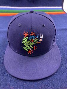 EVERETT AQUASOX Minor League Baseball NEW ERA  Fitted Hat Sz 7 1/4 Vtg Sports