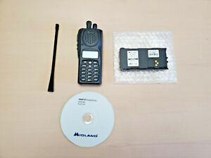 Midland Syn-Tech III P25 UHF 5W Portable Radio 380-470Mhz Digital & Analog FIRE