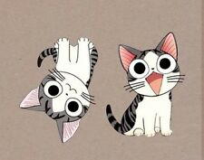 Iron on transfer -  motif  2 cats