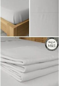 Ex M&S Comfort Cool Antibacterial Super King Flat Sheet Light Grey  NEW T18